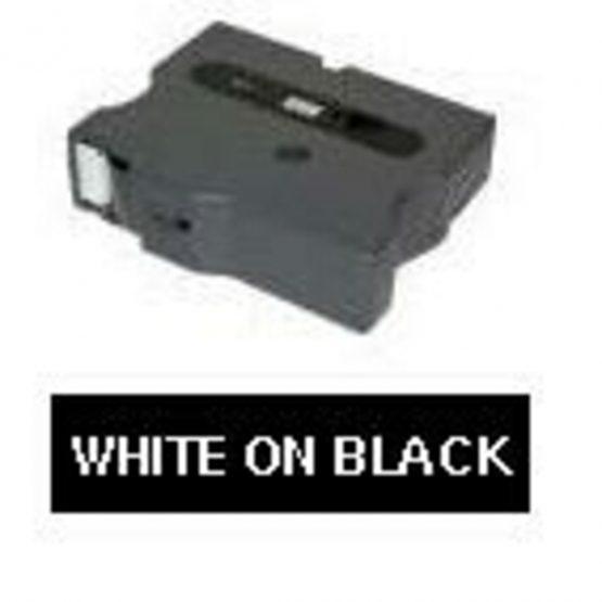 TX 12mm vit på svart