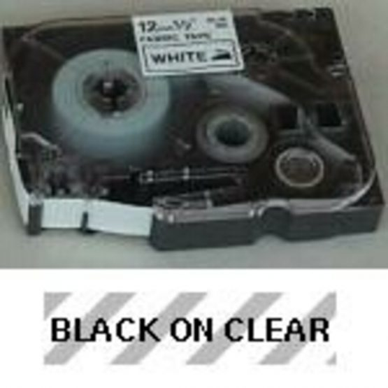 Brother TZe tape 6mmx8m black/clear