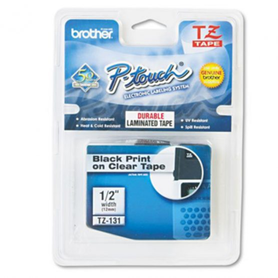 Brother TZe tape 12mmx8m black/clear