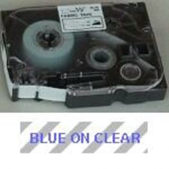 Brother TZe tape 12mmx8m blue/clear