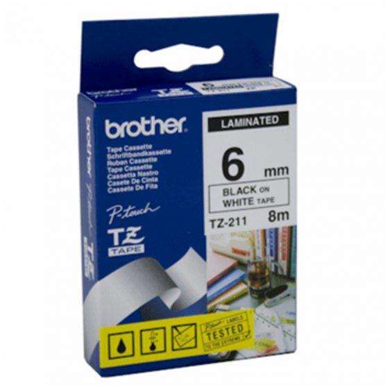 Brother TZe tape 6mmx8m black/white