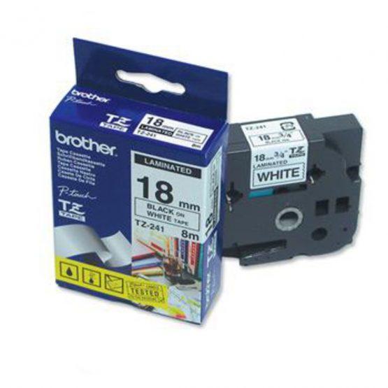 Brother TZe tape 18mmx8m black/white