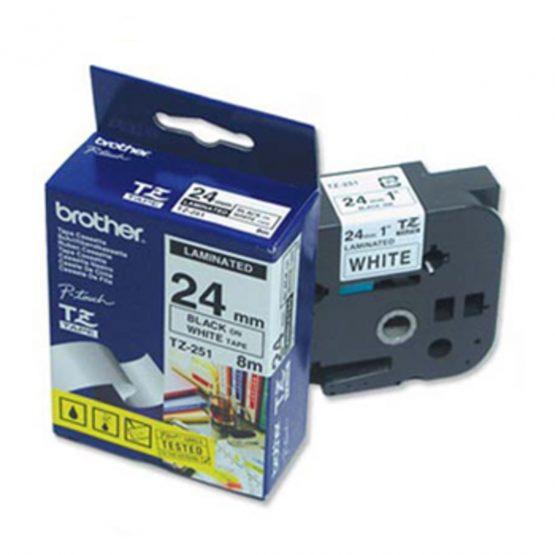 Brother TZe tape 24mmx8m black/white