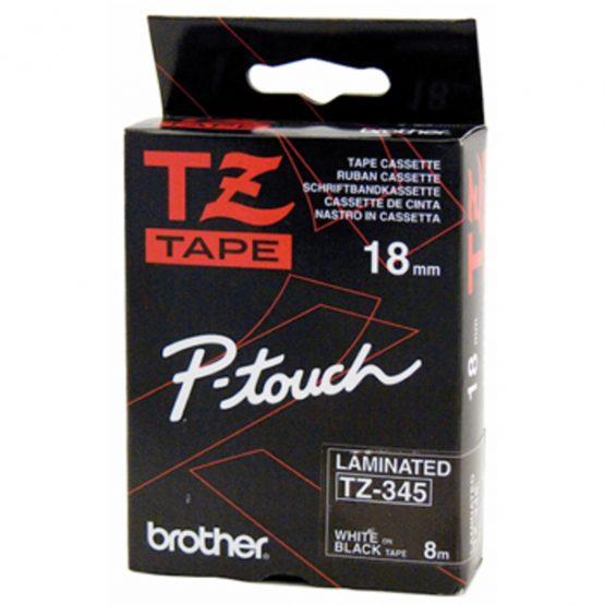 Brother TZe tape 18mmx8m white/black
