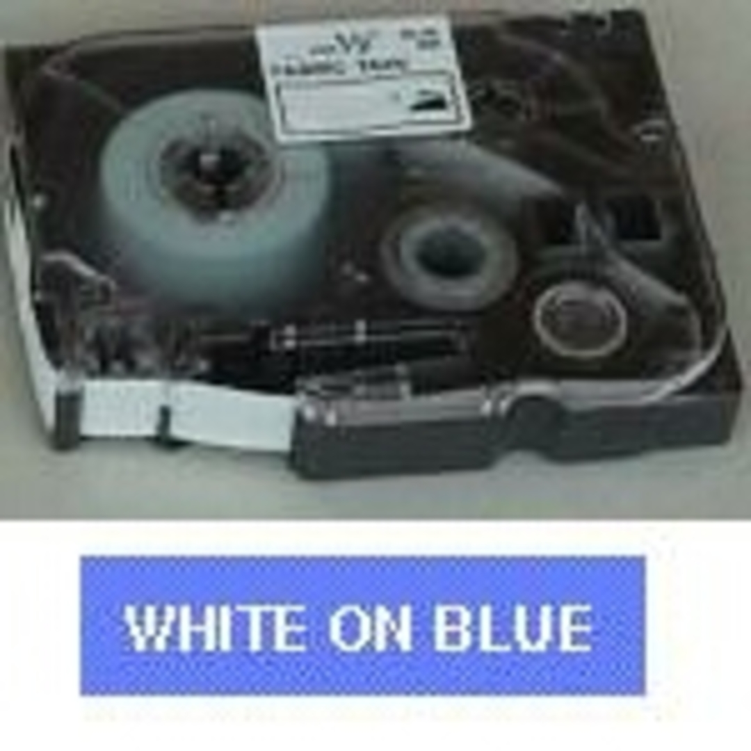 Brother TZe tape 12mmx8m white/blue