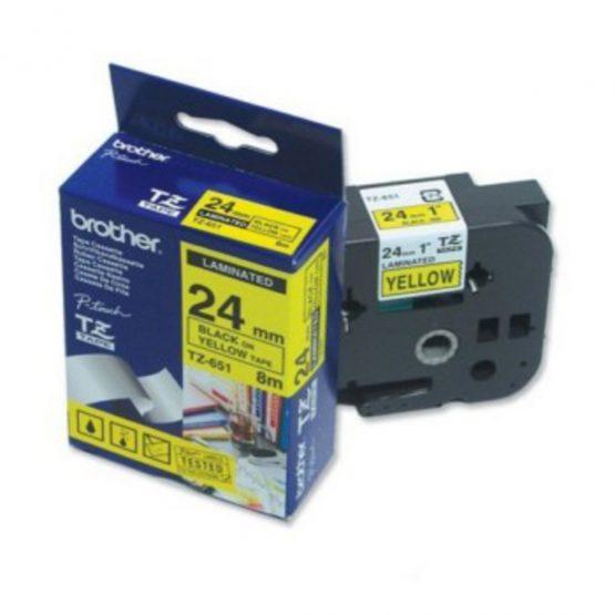 Brother TZe tape 24mmx8m black/yellow