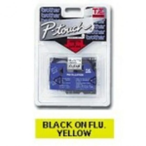 TZe tape 12mmx8m black/neon yellow