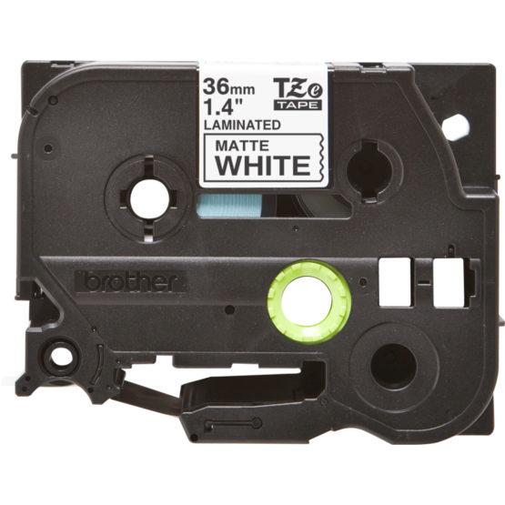 Brother TZe tape 36mm black/white mat