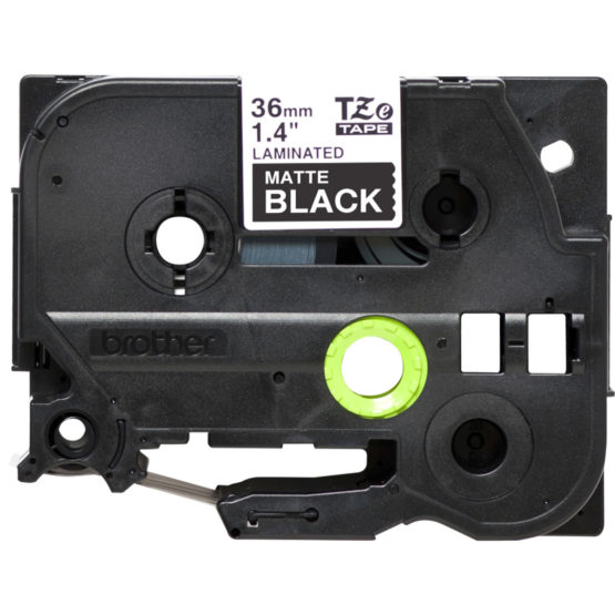 Brother TZe tape 36mm white/black mat