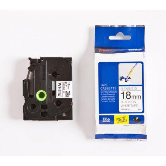 TZe tape 18mmx8m flexible black/white
