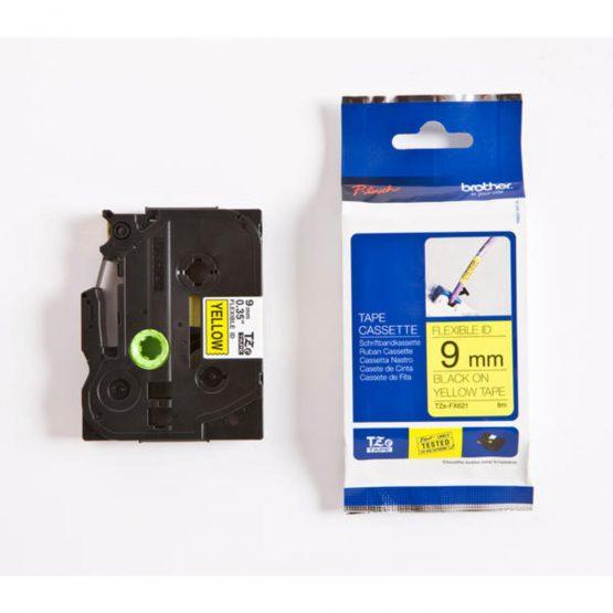TZe tape 9mmx8m flexible black/yellow