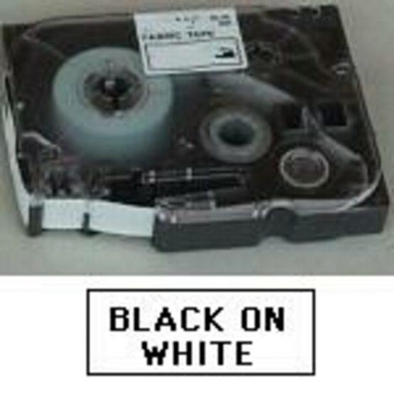 TZe tape 18mmx8m non laminated blck/wht