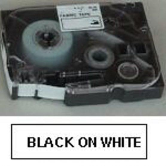 TZe tape 18mmx8m safety black/white