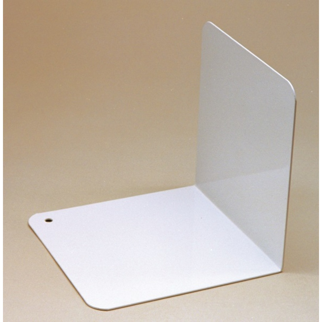 Bookends angled metal 12,5cm white