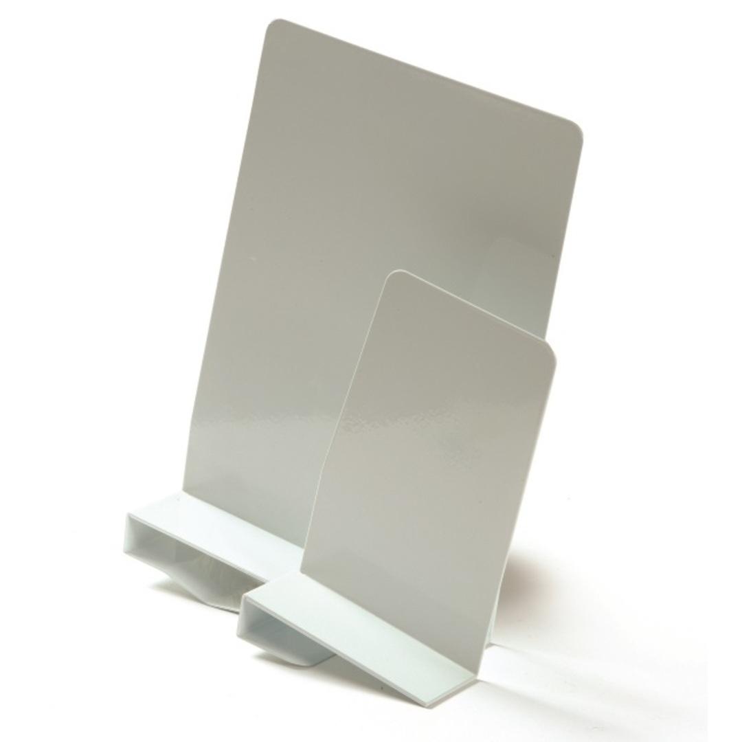 Bookends w/clamp right 20cm white