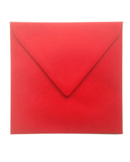 Envelope 14x14 cm red 5/pack