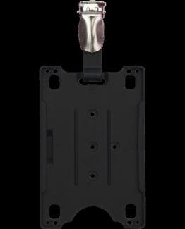 Badge holder with belt clip