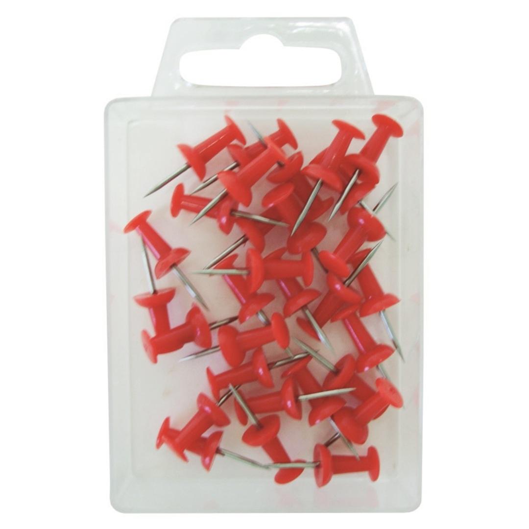 Map pins Push pin red (30)