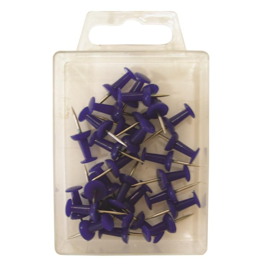 Map pins Push pin blue (30)