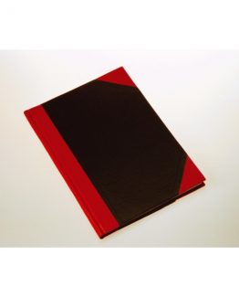 Notebook hardback black & red A4