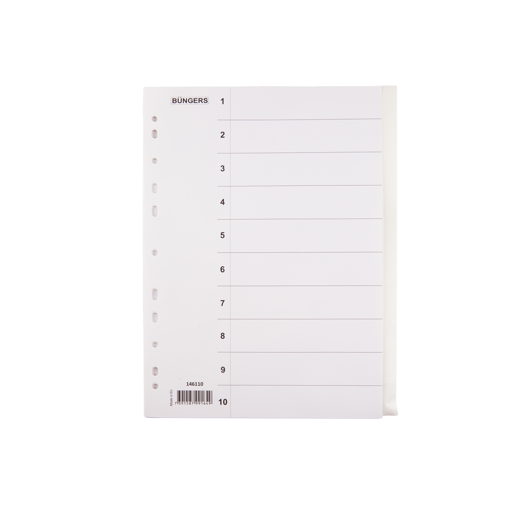 Index PP 10 unprinted tags
