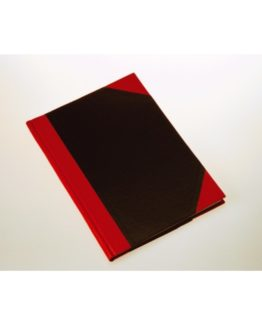 Notebook hardback black & red A5
