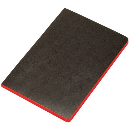 Notebook soft cover Black&Red A5 unruled 72 sheets