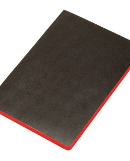 Notebook soft cover Black&Red A6 unruled 72 sheets