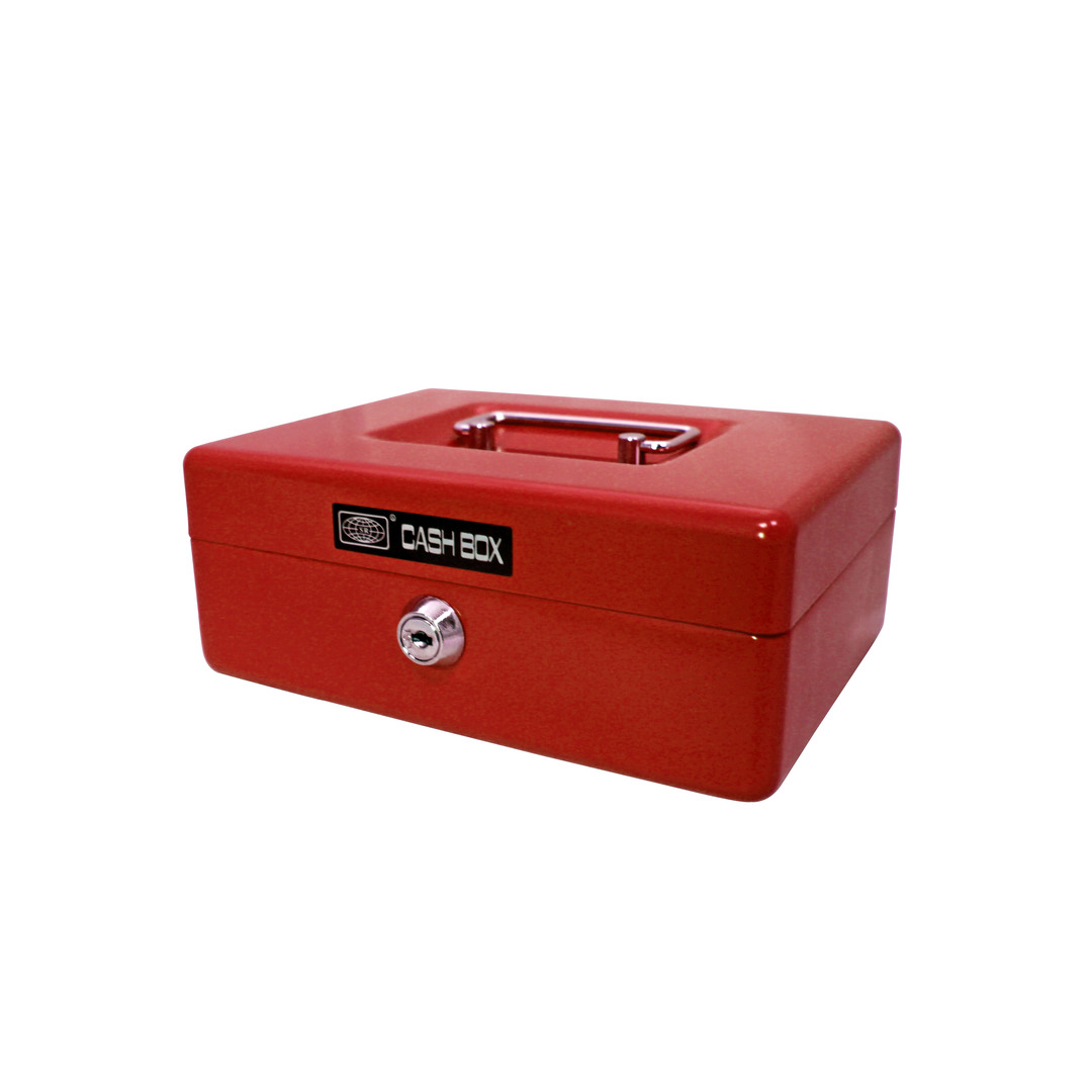 Cash box 702 20x15x8cm, red