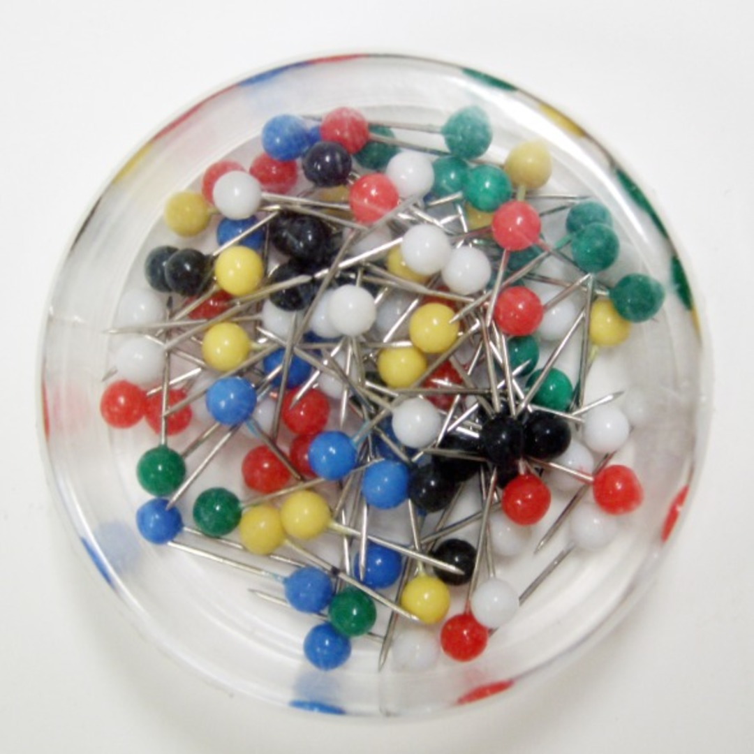 Map pins 15mm assorted colours (100)