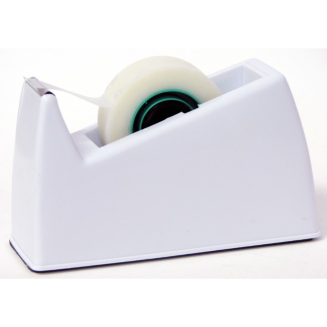 Tape dispenser desk top 10/33m 0.5kg white
