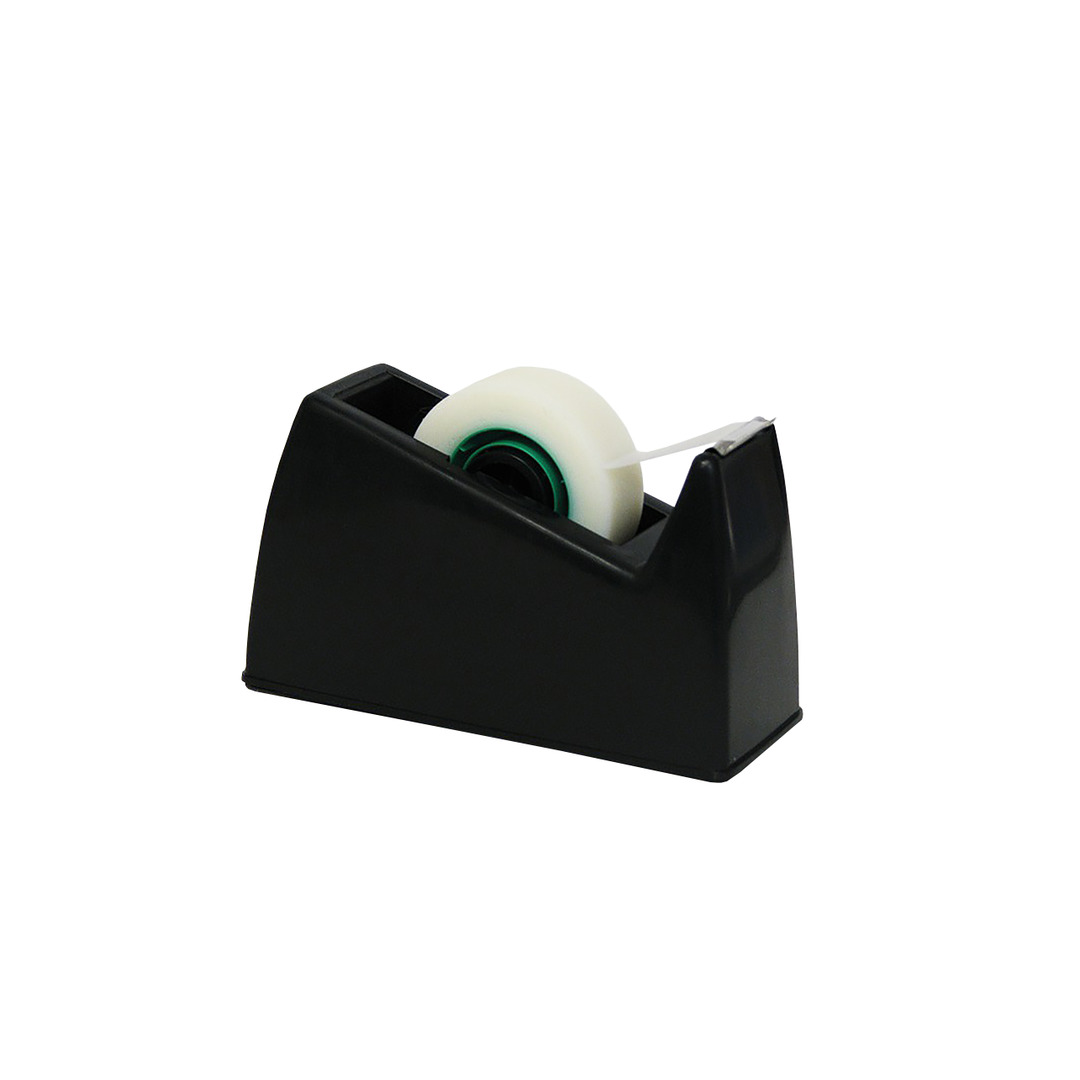 Tape dispenser desk top 10/33m 0.5kg black