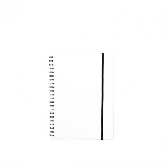 Spiral notepad A5 PP transp clear