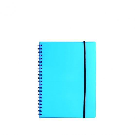 Spiral notepad A5 PP transp blue
