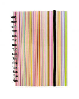Spiral notepad A5 PP Rainbow