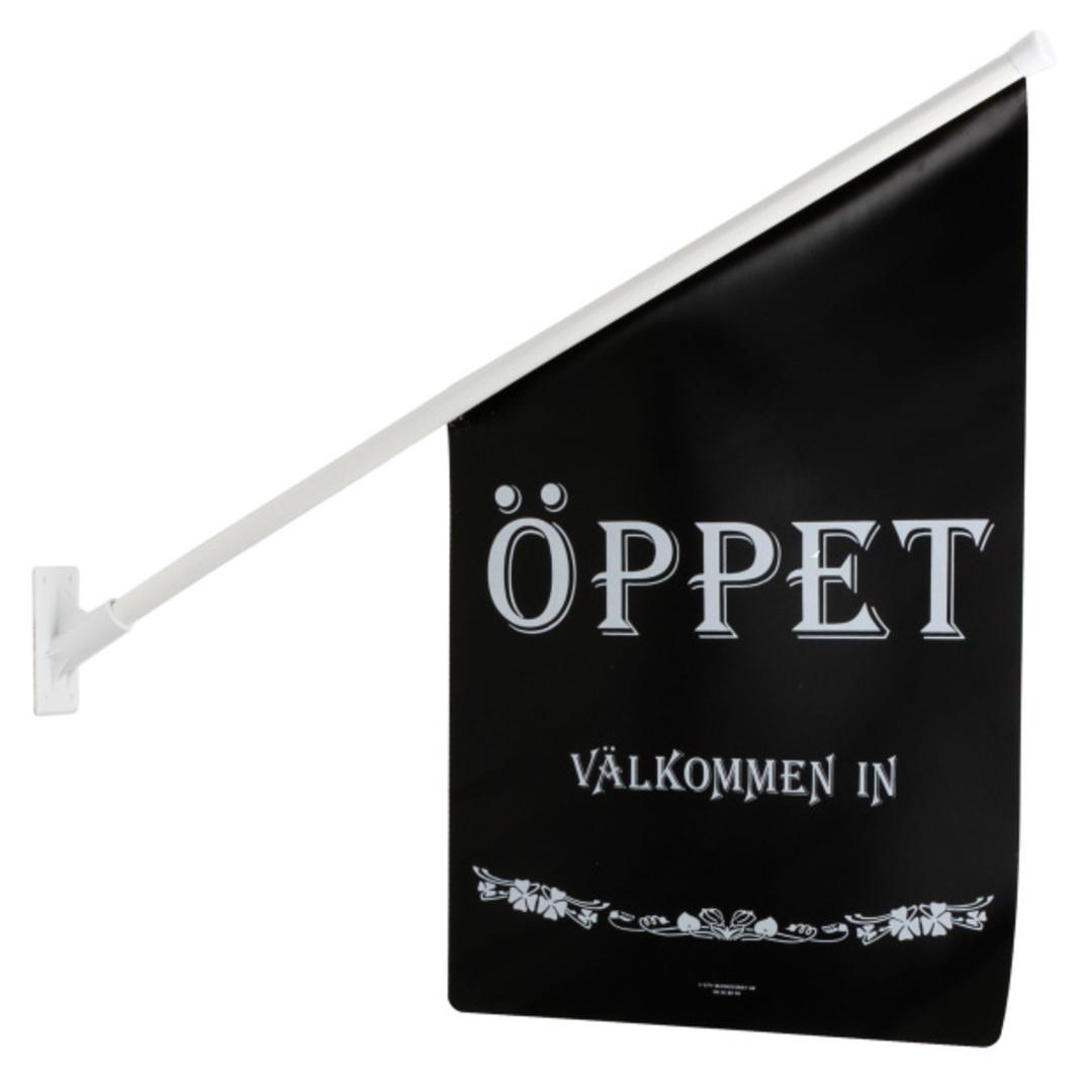 Flag ÖPPET black/white text