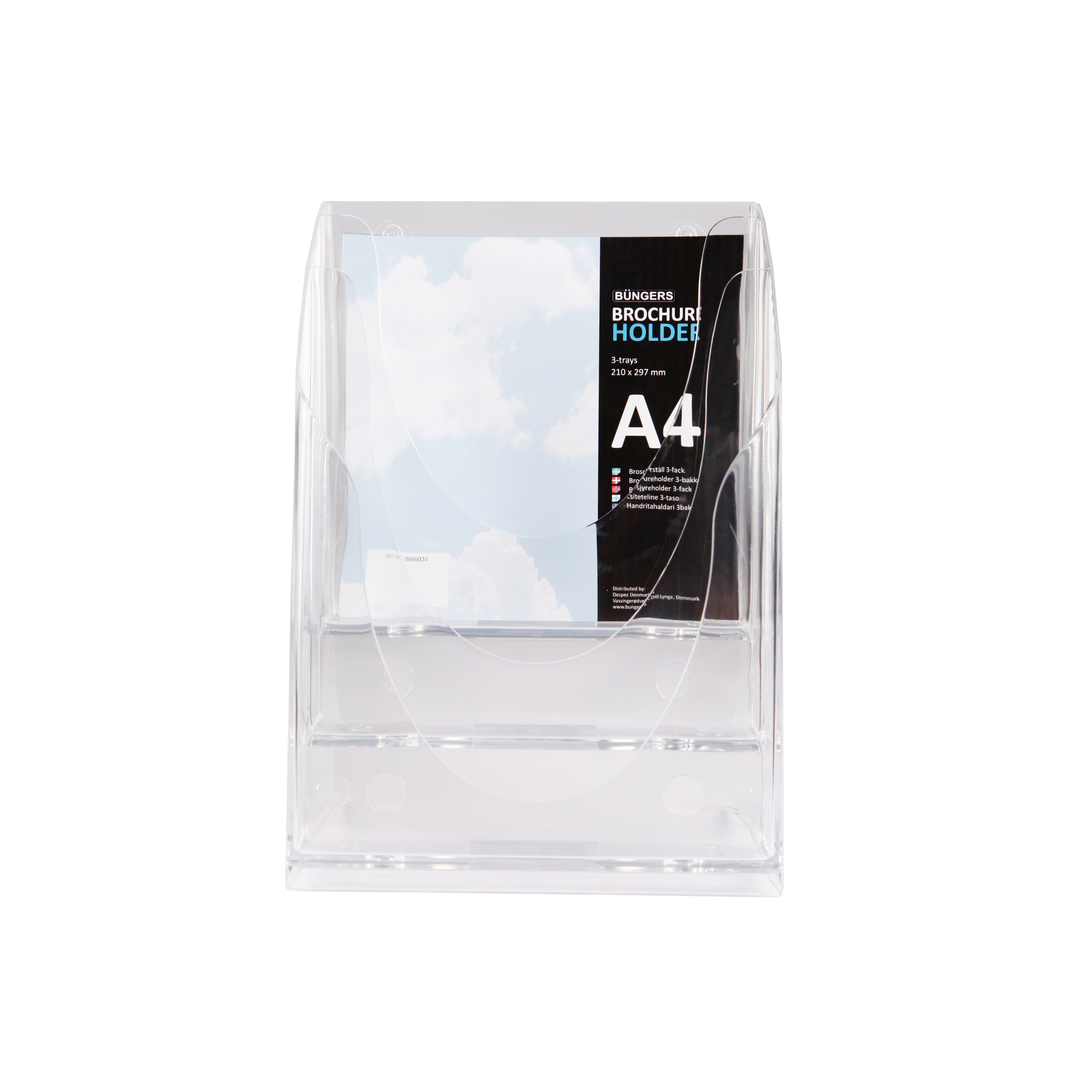 Brochure holder 3-trays A4