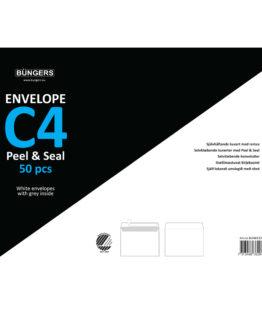 Consumer pack Envelope C4 P&S white 50/box