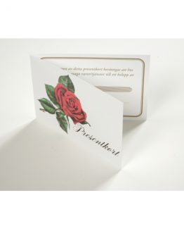Gift cards ''rose'' 10+10