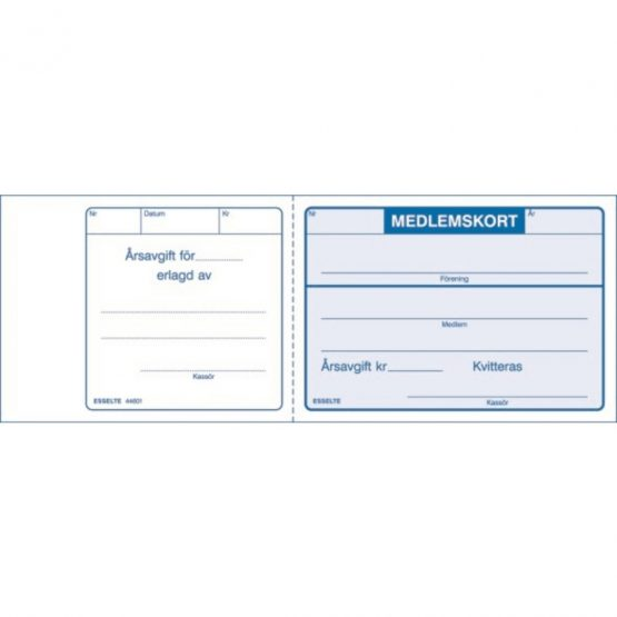 Membercards 115X78 blue