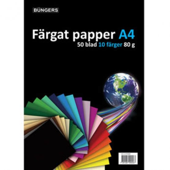 Paper A4 80g assorted 50 sheets