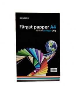 Paper A4 120g assorted 50 sheets