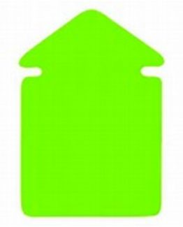 Arrow small 12x8 270g 20/pack fluorescent green