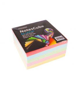 Memo cube glued 95x95mm mixed