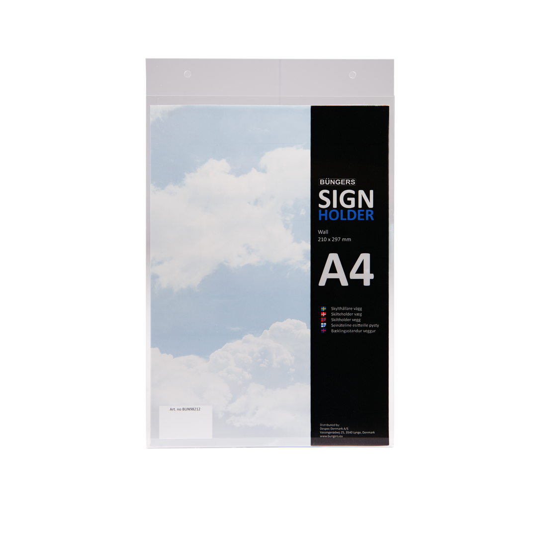 Sign holder A4 wall