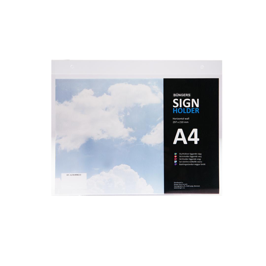 Sign holder wall A4 horizontal