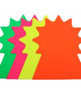 Folding Star 18 cm 20/pack fluorescent yellow