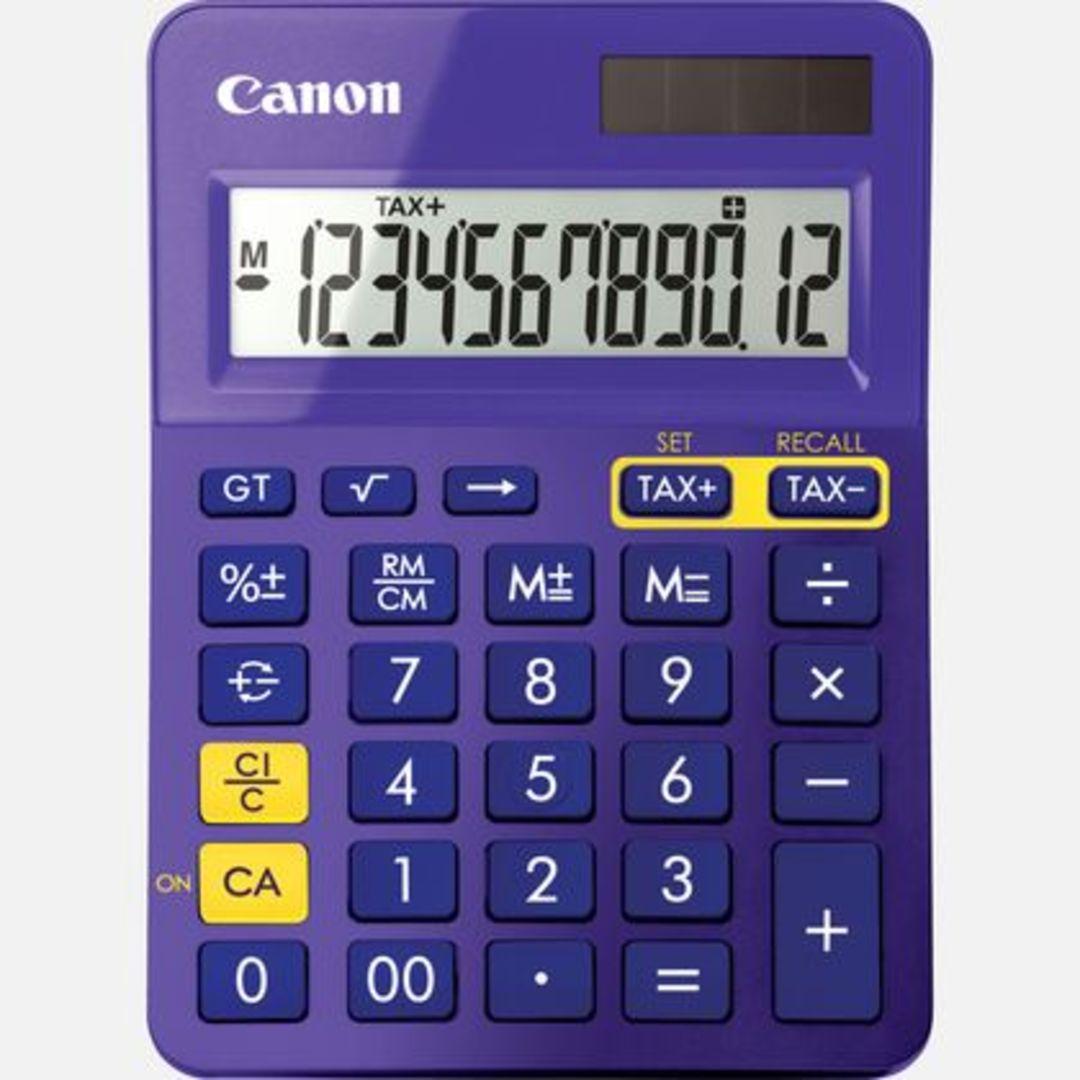 Canon LS-123K MPP pocket calcutalor purple