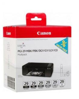 PGI-29 MBK/PBK/DGY/GY/LGY/CO multi pack