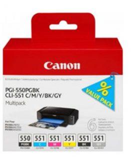 PGI-550/CLI-551 PGBK/C/M/Y/BK/GY multi pack